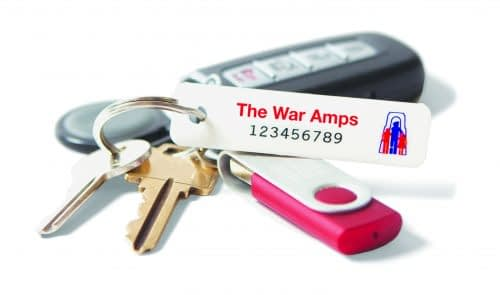 War Amps Key Tag Service celebrating 75th year