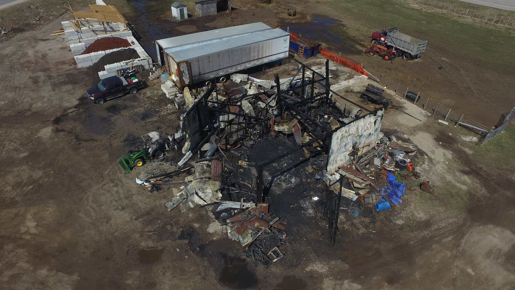 Arson investigation underway following second fire on rural property